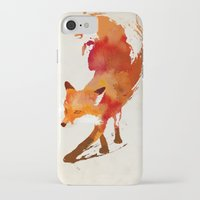 navy iPhone & iPod Cases featuring Vulpes vulpes by Robert Farkas