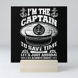 Boat Captain Mini Art Print