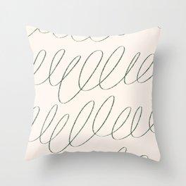 cream loops Throw Pillow