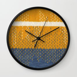 Yarns: Reflections Wall Clock