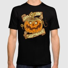 Halloween dark khaki MEDIUM Black Mens Fitted Tee