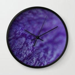 Flower Petal Purple Ripple Wall Clock