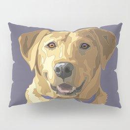 Happy Yellow Labrador Retriever Face Pillow Sham