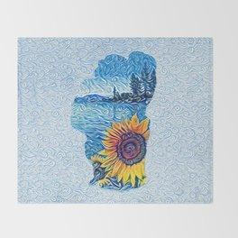 Lake Tahoe Sunflower Throw Blanket