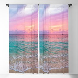 Aerial Photography Beautiful: Turquoise Sunset Relaxing, Peaceful, Coastal Seashore Blackout Curtain