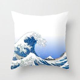 The White Version Of The Great Wave Off Kanagawa - Hokusai's (Edo, Japan) Throw Pillow