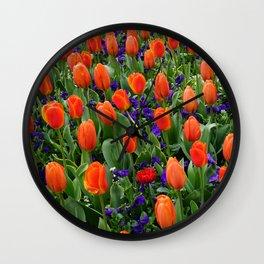 Tulip Field 2 Wall Clock