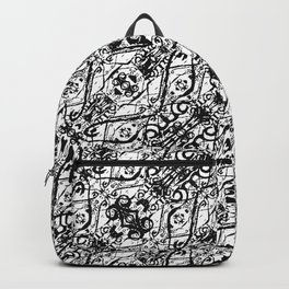 Black and White Ornate Pattern Backpack