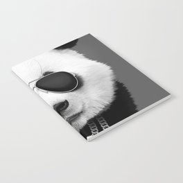 Panda in Black Notebook