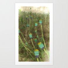 Happy Landscape Poppies Art Print