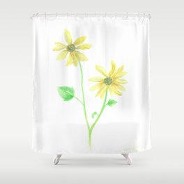 Simple Sunflower Shower Curtain