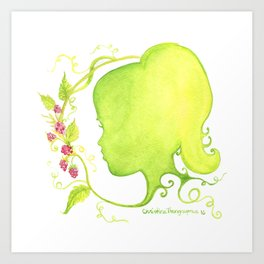 Summer's Child Silhouette Art Print