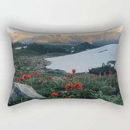 Wildflowers at Mt. Rainier Rectangular Pillow
