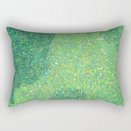 "Gustav Klimt ""Landscape Garden (Meadow in Flower)"" Rectangular Pillow"