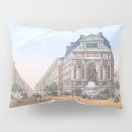 Paris Decor office decoration vintage decor FONTAINE St MICHEL of Paris Pillow Sham