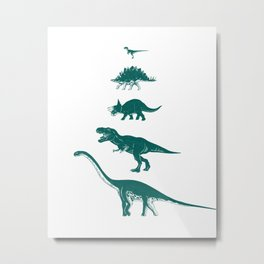 All the Dinosaurs T-Rex Illustration Metal Print