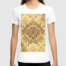 Stylish Gold Mandala T-shirt