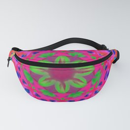 Abstract Flower ZZ WWW AA Fanny Pack