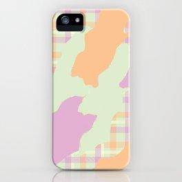 Tartan camo iPhone Case