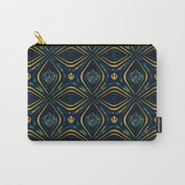 Khanda symbol pattern marble and gold Carry-All Pouch