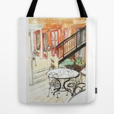 Afternoon At Maxfields  Tote Bag