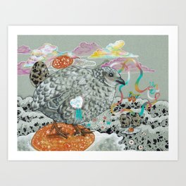 date at the butterfly conservatory Art Print