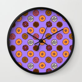 Donut Doodles Wall Clock