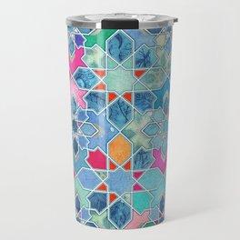Pretty Pastel Moroccan Tile Mosaic Pattern Travel Mug
