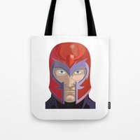 magneto Tote Bags featuring Magneto by Jconner