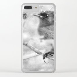 Knowing It Has Wings bw Clear iPhone Case