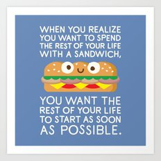When Harry Met Sandwich Art Print
