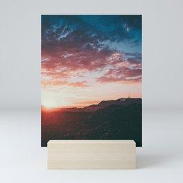 hollywood sunset Mini Art Print