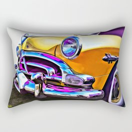 1951 Yellow Hudson Hornet Rectangular Pillow