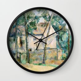 Paul Cézanne - House and Trees Wall Clock