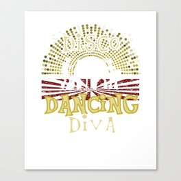 Disco Dancing Diva 70s Retro Vintage Canvas Print