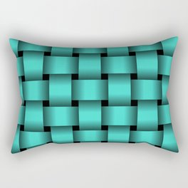 Large Turquoise Weave Rectangular Pillow