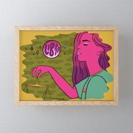 Libra Framed Mini Art Print