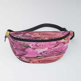 Pastel Multi-color Roses Fanny Pack