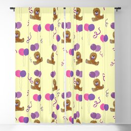 Teddy for girls with balloons Blackout Curtain