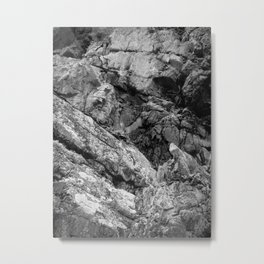 Rocky Cliff Face Metal Print