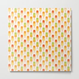 Fruity popsicle pattern Metal Print