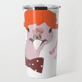 Spunky Turkey Orange Hair TX Travel Mug