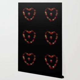 Heart of strawberries Wallpaper