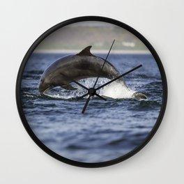leaping dolping Wall Clock