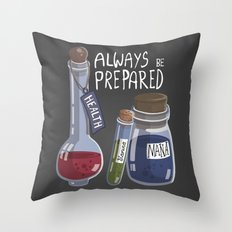 Alchemy Potions Throw Pillow