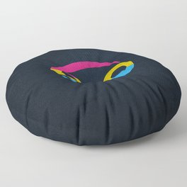 Pansexual Pride Flag Cancer Zodiac Sign Floor Pillow