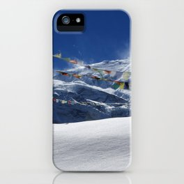 Prayer Flags At The Pass iPhone Case