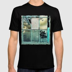 Window One A Black Mens Fitted Tee MEDIUM