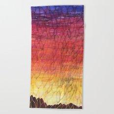 Desert Sunset Pattern Beach Towel