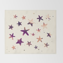 SUNSET STARFISH PATTERN Throw Blanket